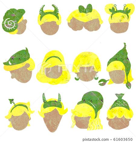 星座星座黃頭髮 61603650