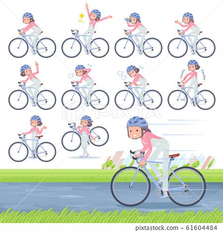flat type salopette bun hair women_road bike 61604484