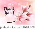 Thank You background with beautiful blossom brunch 61604729