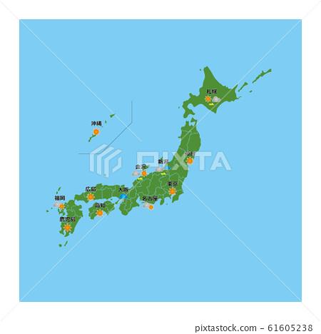Japan weather forecast illustration material 61605238