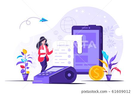 Mobile payment UI illustration  61609012
