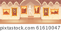 cartoon art gallery in medieval palace 61610047