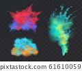 set of powder explosions for Holi fest 61610059