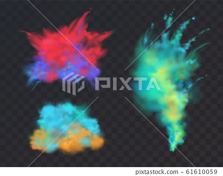 set of powder explosions for Holi fest 61610059