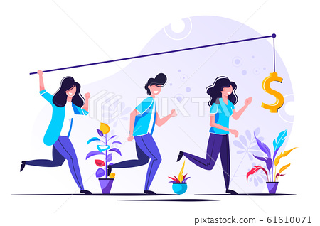 Vector illustration, the pursuit of money 61610071