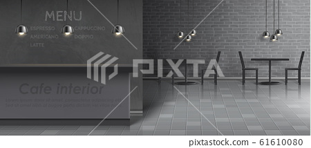 mockup of cafe interior, empty restaurant 61610080