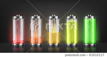 set of battery charge indicators 61610127