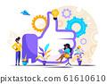 Vector illustration, performance teamwork 61610610