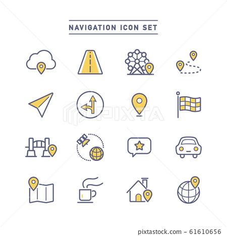NAVIGATION ICON SET 61610656