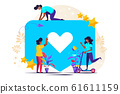 Vector colorful illustration of communication 61611159