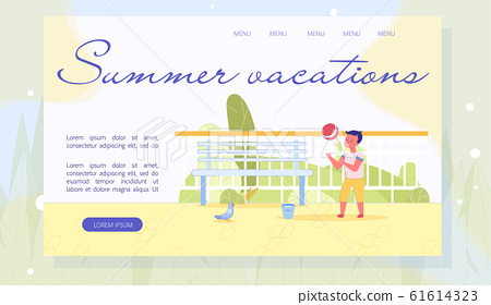 Summer Vacations and Kids Recreation Landing Page 61614323
