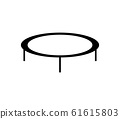 trampoline jumping icon 61615803