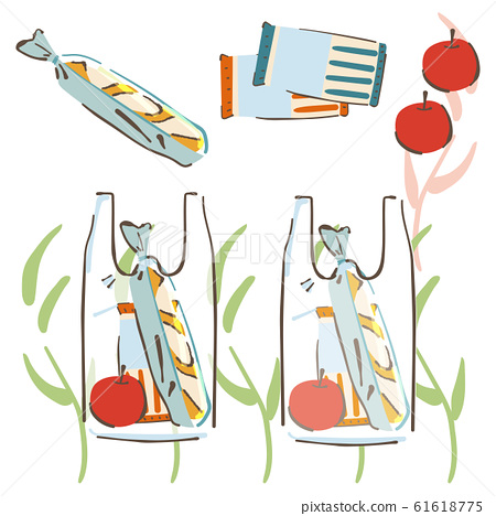 購物袋食品圖 61618775
