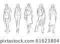 妇女的时尚插画 61623804