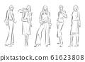 妇女的时尚插画 61623808