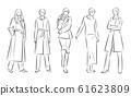 妇女的时尚插画 61623809