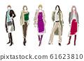 妇女的时尚插画 61623810