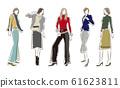 妇女的时尚插画 61623811
