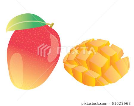 整個和切紅芒果 61625968