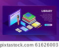 Online library in smartphone illustration 61626003