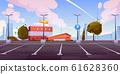 City car parking empty lots cartoon 61628360