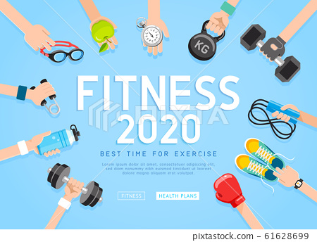 Exercises 2020 conceptual design. Set of young 61628699