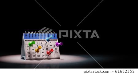 Desk Calendar Commitments Date Concept 3D Illustration 61632355