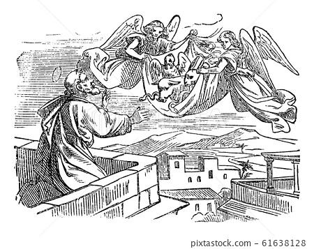Vintage Antique Religious Biblical Drawing or... - 스톡일러스트 [61638128] - PIXTA
