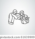 Krav maga silhouettes. Two abstract fighters pictogram 61639909
