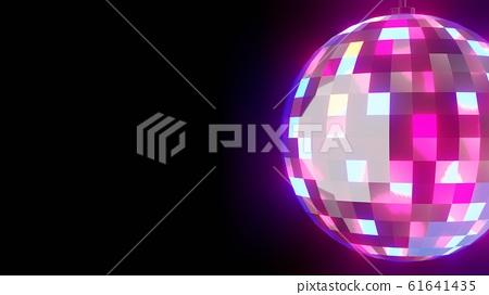 Disco ball on black background 61641435