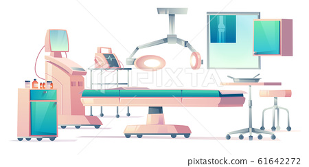Surgery room, operating medical equipment set 61642272