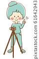 相機女孩全身三腳架圖 61642943