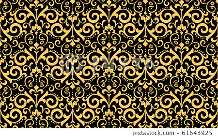 Wallpaper in the style of Baroque. Seamless vector 61643925