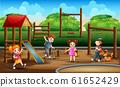 Children in the playground illustration 61652429