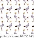 Watercolor crane pattern 61655243