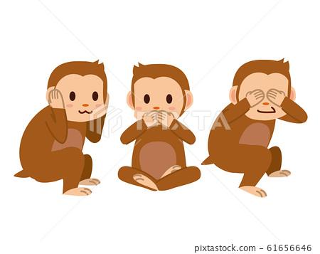 日光三隻猴子 61656646