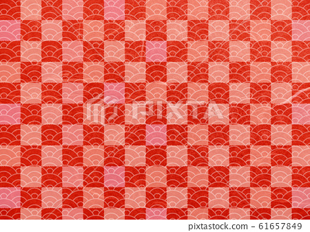 Red tone blue sea wave japanese paper texture... - Stock ...