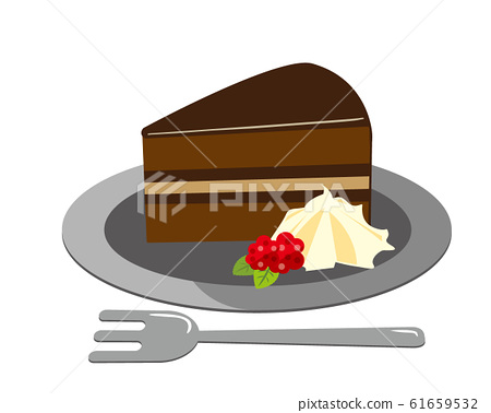 Chocolate cake cake western confectionery sweets strawberry 61659532
