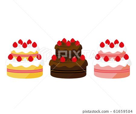 Shortcake strawberry fresh cream chocolate cake berry cake 61659584