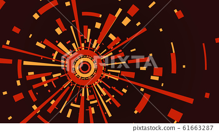 Multicolored geaometrical circle shape background 61663287