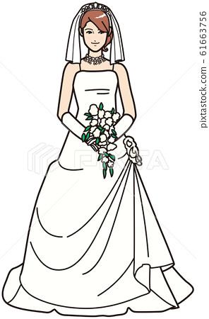 一個穿婚紗的女人 61663756