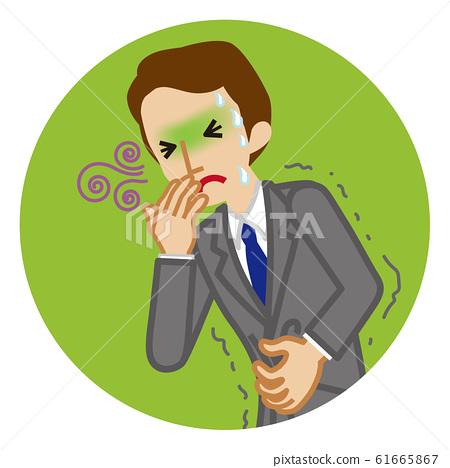 메스꺼움 사업가 질병의 증상 - 원형 클립 아트 61665867