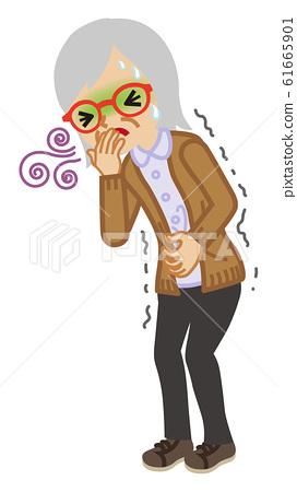메스꺼움 수석 여성 병의 증상 - 전신 61665901