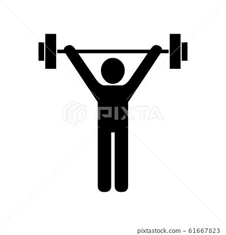 Black Weightlifting symbol for banner, general 61667823