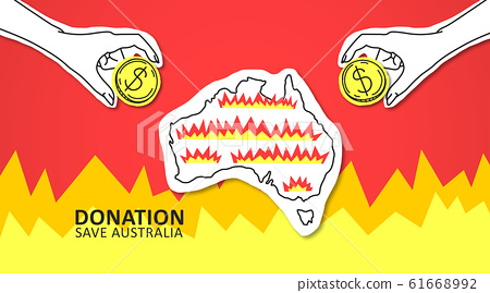 Crowdfunding campaign of collecting money for saving Australia 61668992