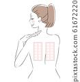 女性背部補丁測試刺痛測試 61672220