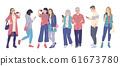 Men and Women Using Smartphones 61673780