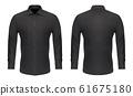 Mockup template, men black classic dress shirt 61675180