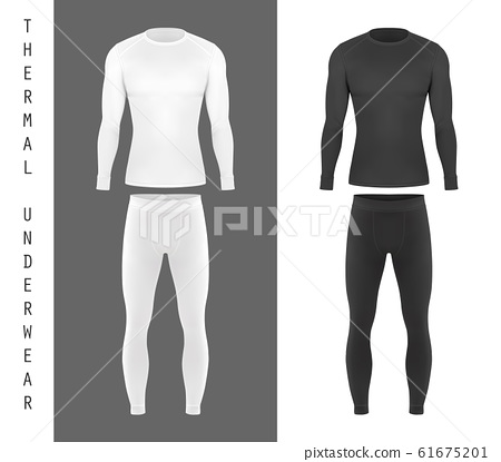 Thermal underwear top shirt and pants mockup 61675201