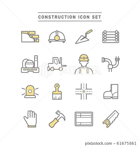 CONSTRUCTION ICON SET 61675861